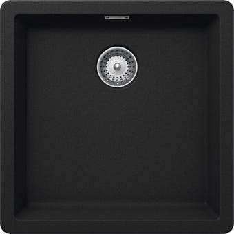 Hafele Quartz Single Bowl Sink 32l Black