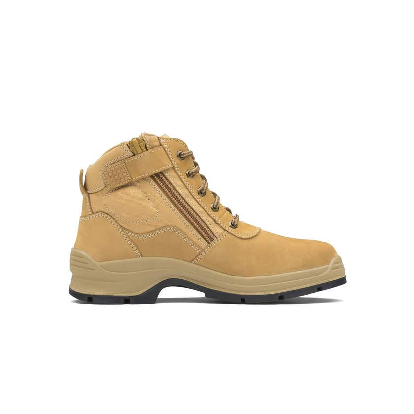 Blundstone 418 Nubuck Zip Side Non-Safety Boot Wheat