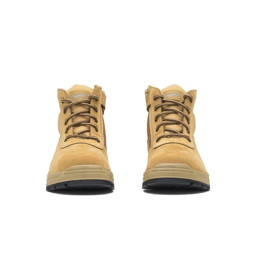 Blundstone Nubuck Zip Side Non-Safety Boot Wheat 418