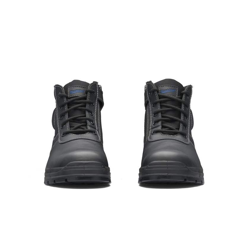 Blundstone 419 Leather Zip Side Non-Safety Boot Black