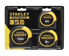 Stanley FatMax Tape Measure 5m/8m/10m x 32mm - Triple Pack