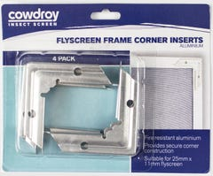 Cowdroy Flyscreen Frame Corner Aluminium - 4 Pack