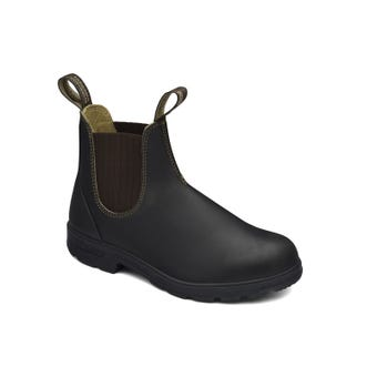 Blundstone Premium Leather Elastic Side Non-Safety Boot Brown 600