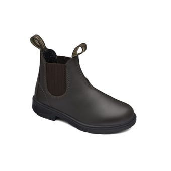 Blundstone Kids Leather Elastic Side Non-Safety Boot Brown 630