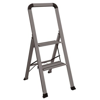 Faulkner™ 2 Step Euro Ladder 100kg Domestic Dark Grey