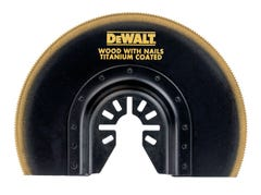 DeWalt Blade Semicircle Flush Cut Multi-Tool Wood/Nails 102mm