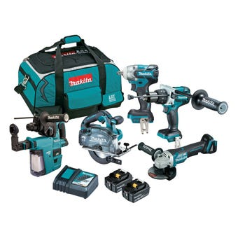 Makita 18V 5.0Ah Brushless Combo Kit - 5 Piece DLX5058TX1