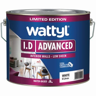 Wattyl I.D Advanced Low Sheen White 6L