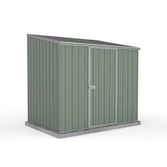 Absco Space Saver Shed Pale Eucalypt with Zinc Channels 2.26 x 1.52 x 2.08m