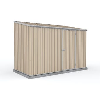 Absco Space Saver Shed with Zinc Channels Paperbark 3.00 x 1.52 x 2.08m