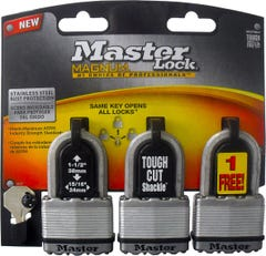 Master Lock Magnum Laminated Padlock 3 Pack