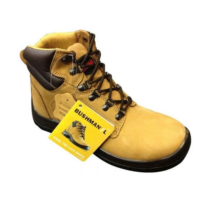 Bata Bushman Lace-Up Work Boots