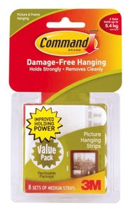 Command Medium Picture Hanging Strips Value 8pk