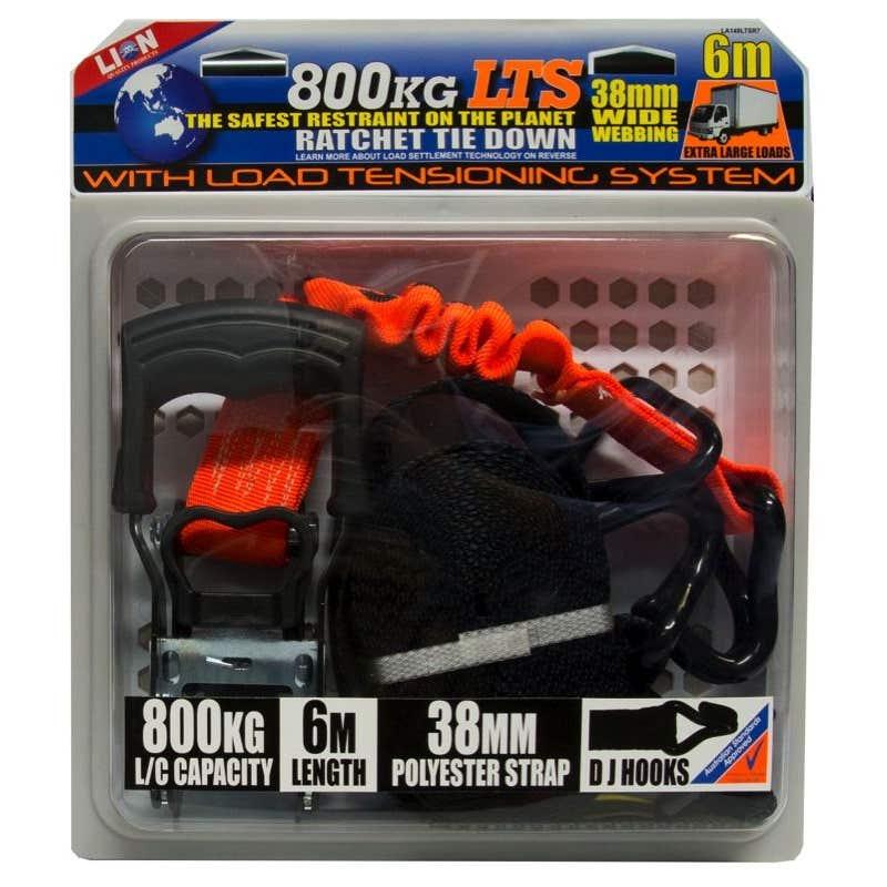 Lion LTS 38mm x 6m Ratchet Tie Down