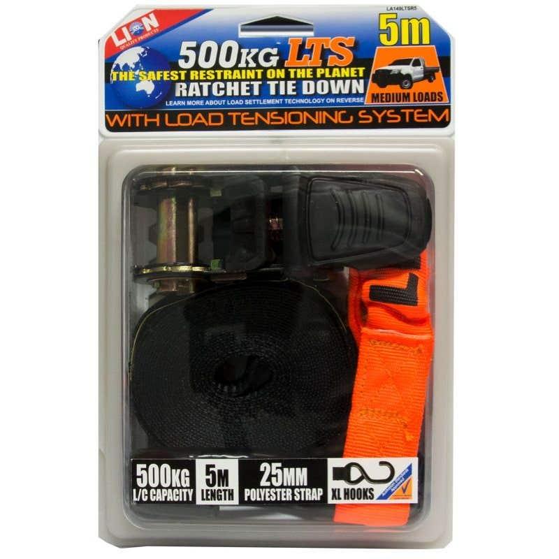 Lion LTS 25mm x 5m Ratchet Tie Down