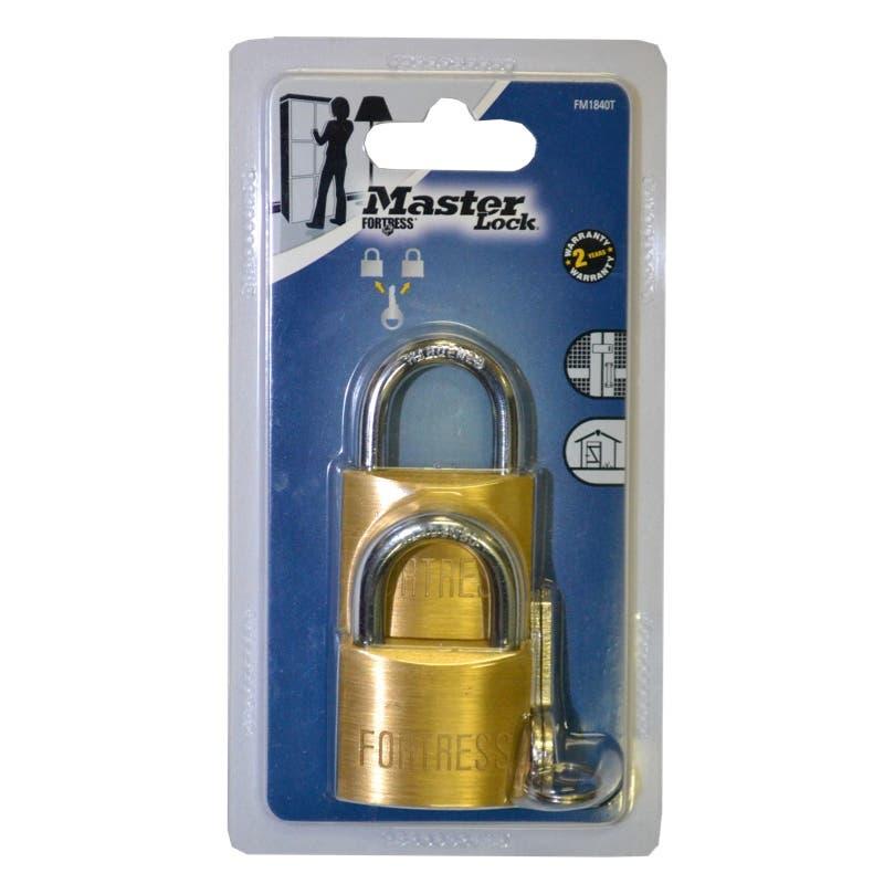 Master Lock Fortress Padlock 40mm - 2 Pack