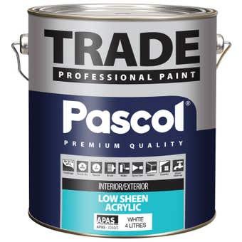 Pascol Trade Low Sheen Acrylic Paint 4L