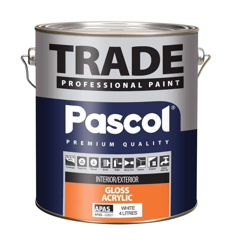 Pascol Trade Gloss Acrylic Paint 4L