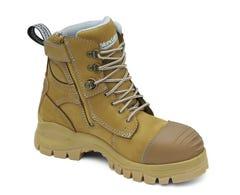 Blundstone Women's Zip Safety Boot Wheat Nubuck Size 7