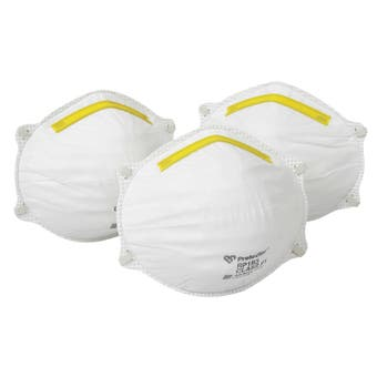 Protector Disposable Respirators - 3 Pack Workmate