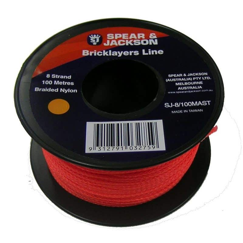 Spear & Jackson Bricklayers Line Orange 100m