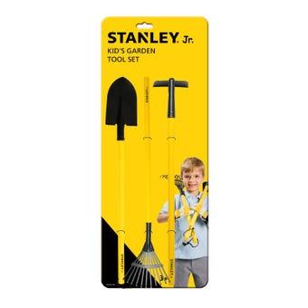 Stanley Jr. Kids Long Handle Garden Tool 3 Piece Set
