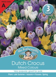 Mr Fothergill's Bulbs Dutch Crocus Mixed 3 Bulbs