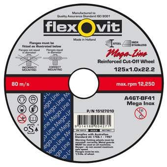 Flexovit Ultra Thin Cut-Off Wheel 125 x 1 x 22mm