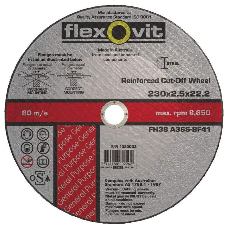 Flexovit Metal Cut-Off Wheel 230 x 2.5 x 22.2mm