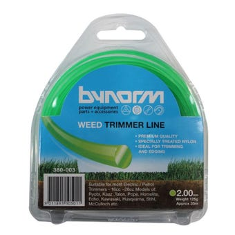 Bynorm 2.00mm x 35m Trimmer Line Green 125g