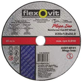 Flexovit Metal Cut-Off Wheel Ultra Thin 230 x 1.9 x 22.2mm