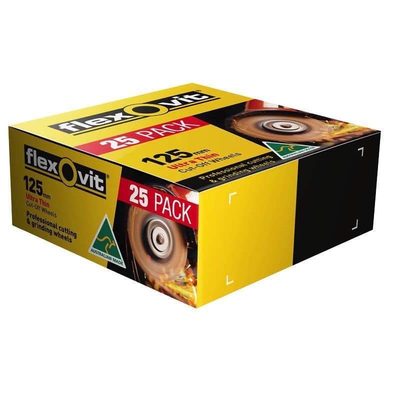 Flexovit Metal Cut-Off Wheel 125 x 1 x 22.2mm - 25 Pk
