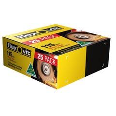 Flexovit 115 x 1 x 22.2mm Metal Cut Off Wheel - 25 Pack