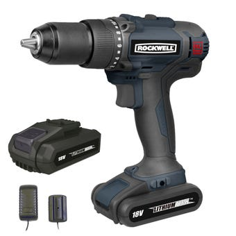 Rockwell 18V Li-Ion Brushless Hammer Drill Driver Kit RD1870