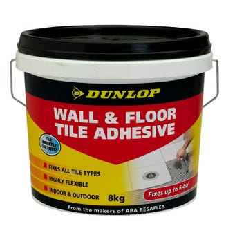 Dunlop 8 KG Tub Wall And Floor Tile Adhesive