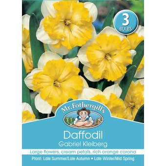 Mr Fothergill's Bulbs Daffodil Gabriel Kleisberg 3 Bulbs