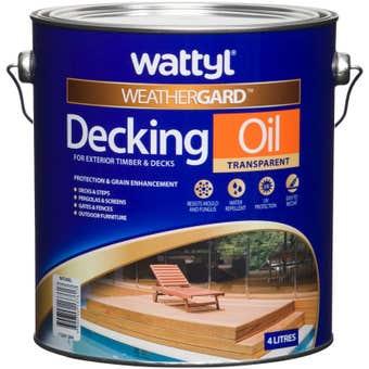 Wattyl Weathergard Decking Oil 4L Natural