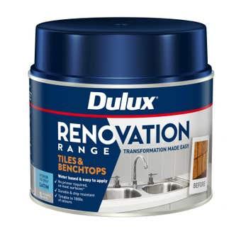 Dulux Renovation Range Tiles & Benchtops Satin White 1L