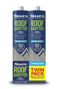 Selleys 310g Roof & Gutter Silicone Twin Pack