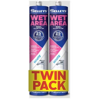 Selleys 300g Wet Area Silicone Twin Pack
