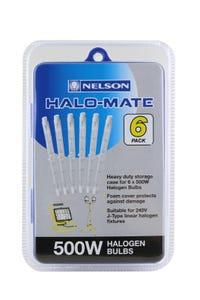 Nelson 6Pk 500W Halomate Linear Halogen Case