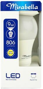 Mirabella LED Globe GLS BC Warm White 9W