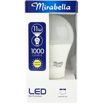 Mirabella LED Globe GLS BC 11w Warm White