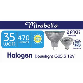 Mirabella Halogen Globe Eco Dichoric 12V 60D 35W Pack of 2