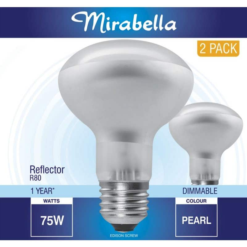 Mirabella Halogen R80 Reflector Globes