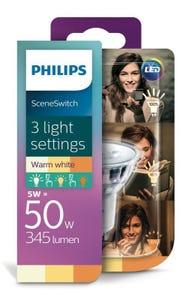 Philips LED GU10 5W Scene Switch Downlight