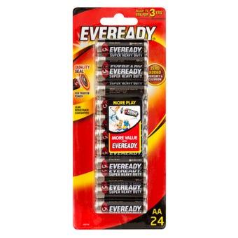 Eveready Super Heavy Duty Battery AA - 24 Pack
