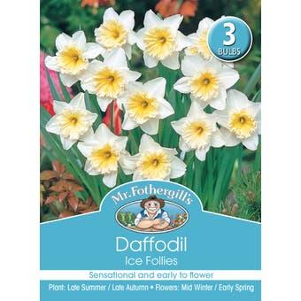 Mr Fothergill's Bulbs Daffodil Ice Follies 3 Bulbs