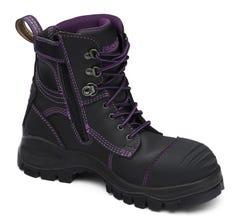Blundstone Women's Zip Safety Boot Black Size 8