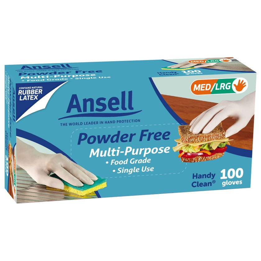 Ansell Handy Disposable Gloves - 100 Pack